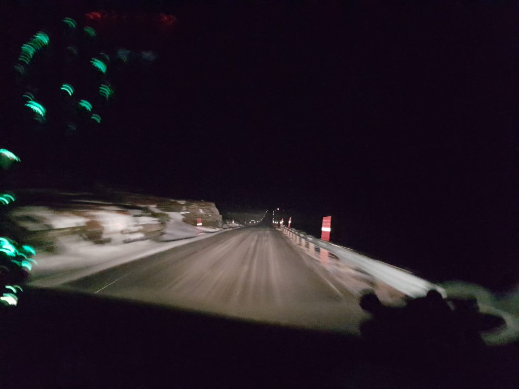 icy roads in Norway